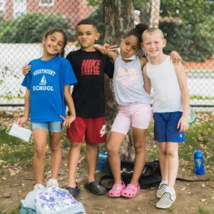 4 friends enjoying time at a Stars afterschool program